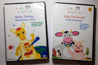 2 DVD educativos Baby Einstein