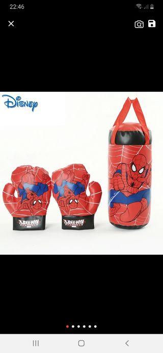 saco+guantes boxeo spiderman