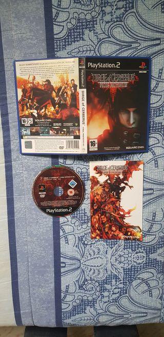 Final Fantasy VII Dirge of Cerberus. PS2.