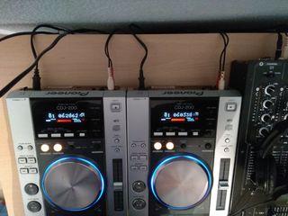 Pioneer CDJ 200 + mesa de mezclas