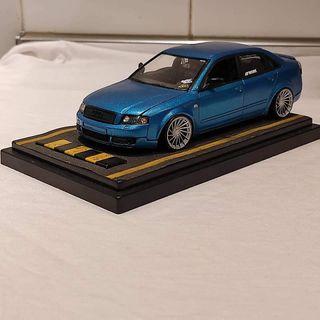 Maqueta Audi A4 b6 1:24 blue