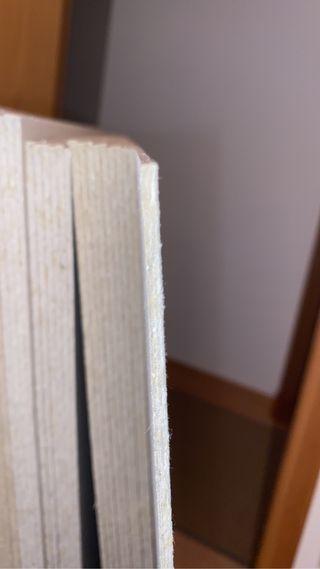 Cartón prensado láminas 1,05x75 ancho 2'5 mm