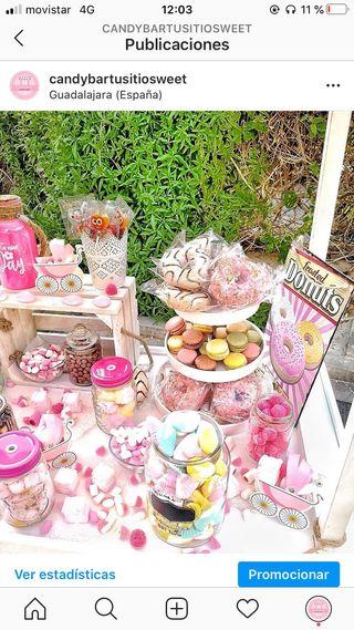 Carro de Chuches carro Candy bar boda barato