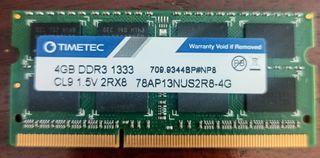 4GB Memoria RAM para MAC Timetec