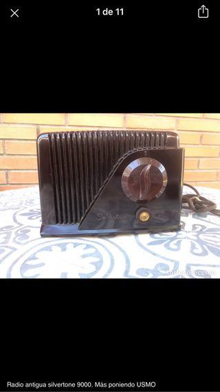 Radio antigua silvertone 9000. No probada