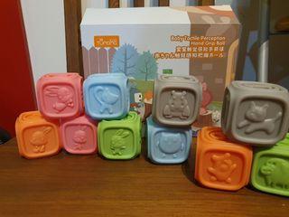 Cubos goma para bebés