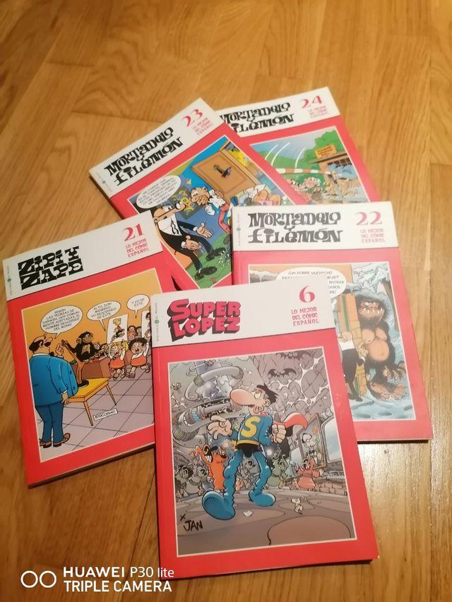 40 libros cómic de mortadelo,superlopez y zipezape