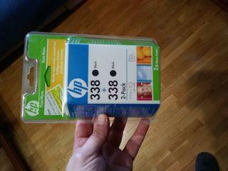 dos cartuchos de tinta negra impresora HP nuevos!