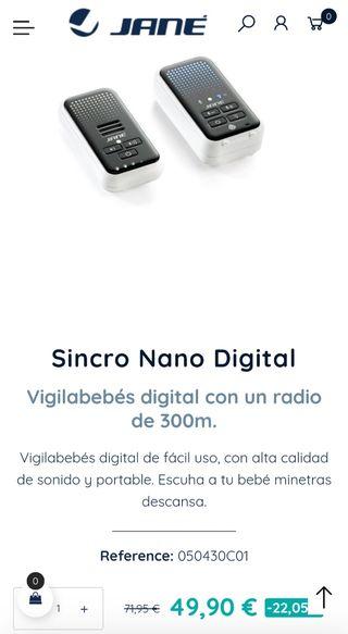 Vigilabebes Jane Sincro Nano Digital