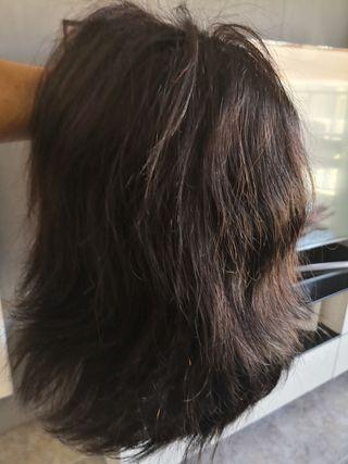 peluca de pelo natural
