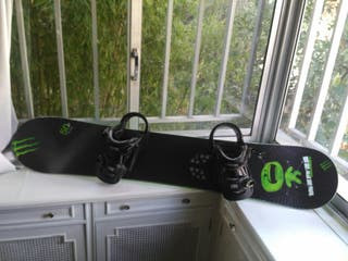 Tabla y fijaciones snowboard