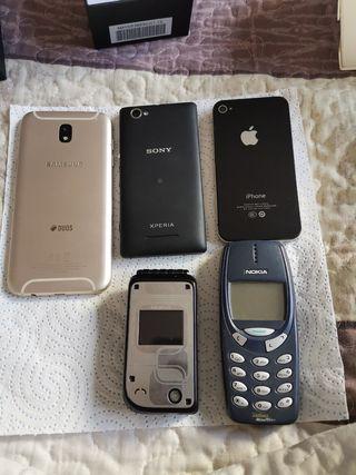 lote de móviles de segunda mano.