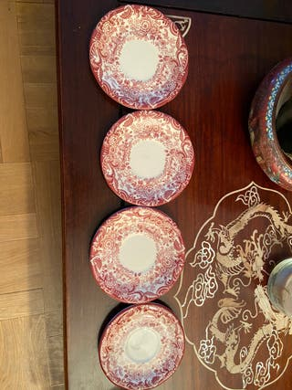 4 platos cafe La cartuja