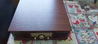 Tocadiscos,radio Fm, grabador Sunstech