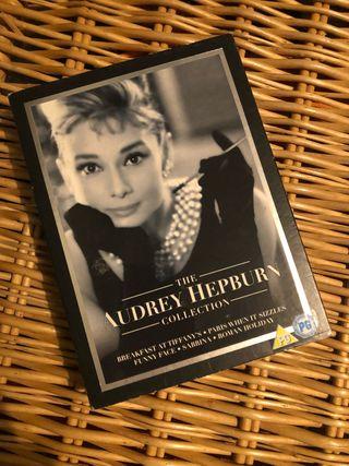 Colección películas de Audrey Hepburn en DVD.