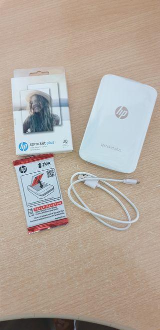 Impresora móvil HP Sprocket Plus + 30 papel foto