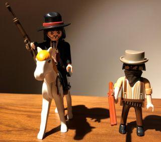 Pareja Lejano Oeste Sheriff y Bandido Playmobil