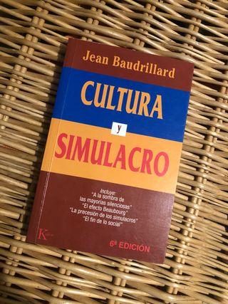 Libro Cultura y Simulacro de Jean Baudrillard