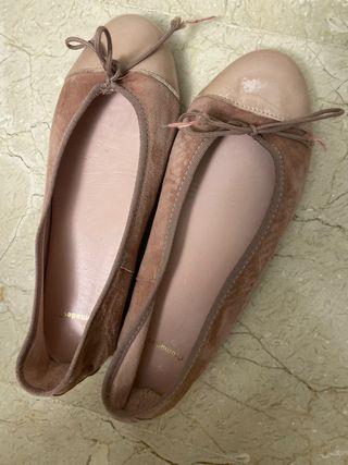 Bailarinas rosa palo
