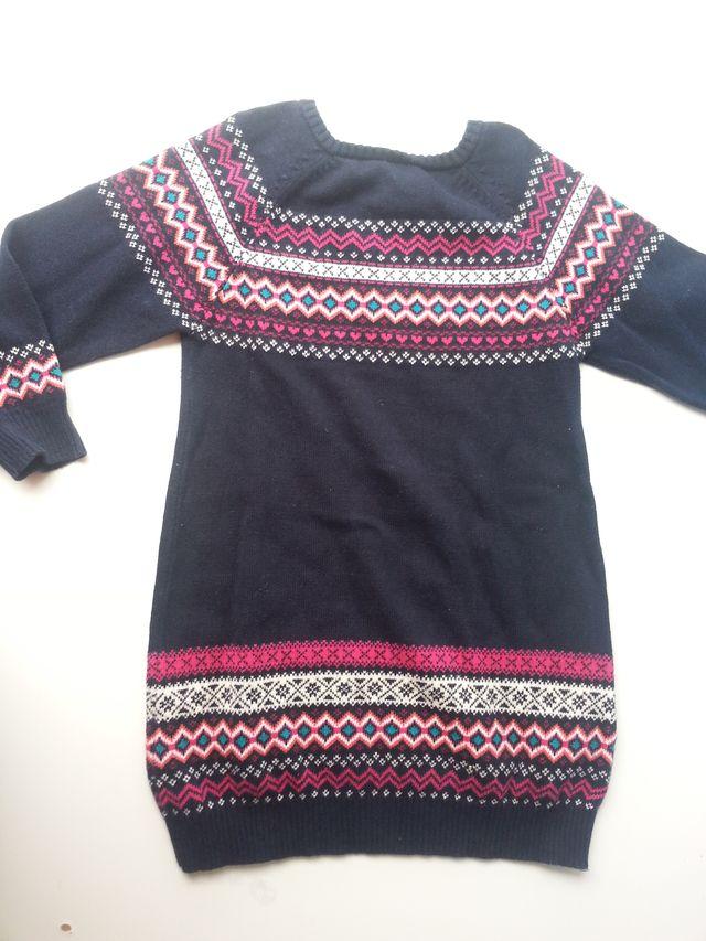 (d059) Vestido punto niña 3 años