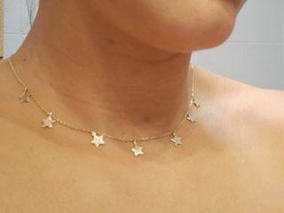 colgante-gargantilla de plata estrellas