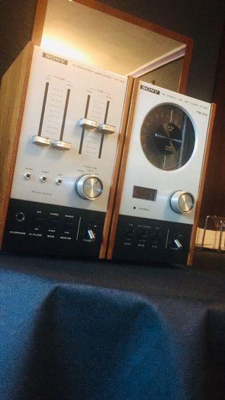 Equipo vintage Amplificador y Tuner SONY