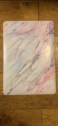 Pink marble Macbook 13 hard shell cover