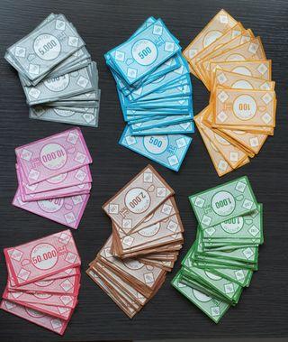 Billetes antiguos de Monopoly
