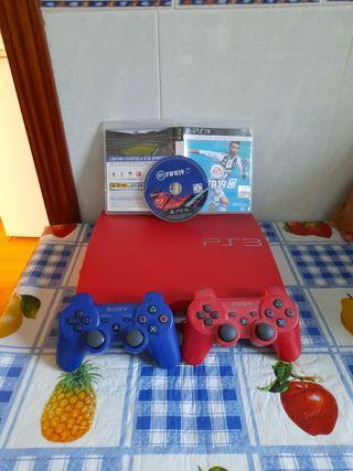 Oferta de reyes PS3 ROJA muchos juegos 2 mandos