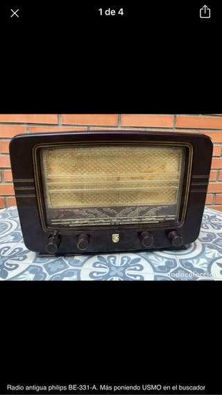 Radio antigua philips BE-331-A no probada