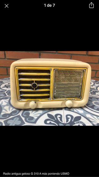 Radio antigua geloso G 310 no probada