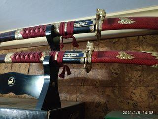 conjunto katanas decorativas