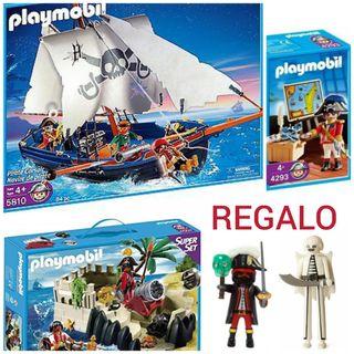 Barco y fortaleza pirata PLAYMOBIL