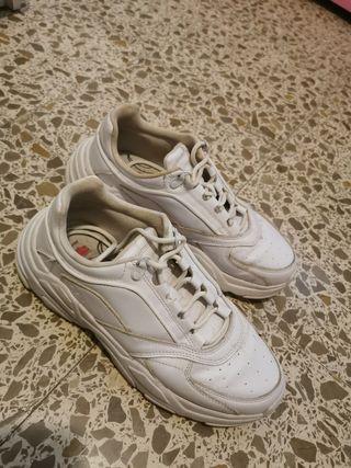 Zapatillas blancas hombre