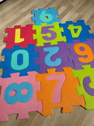 Puzzle alfombra goma Eva bebé