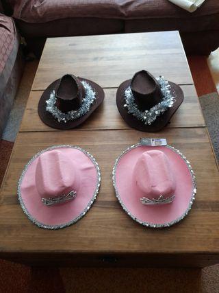 gorros de cowboy niña 6-8 años