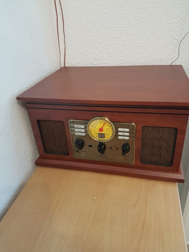 tocadiscos grabador retro