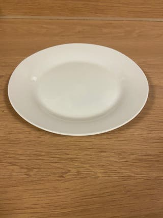 White or beige plate/s (individual or pack of 4)