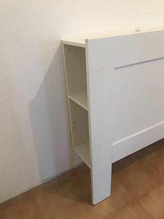 Cabecero de cama compartimientos Brimnes Ikea