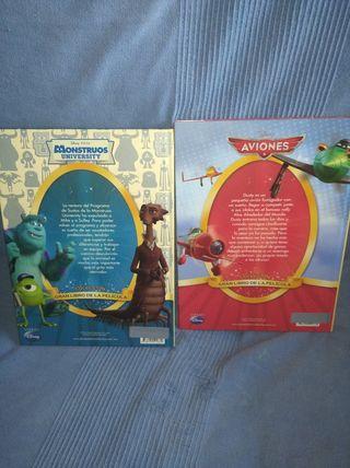 2 libros Disney pixar