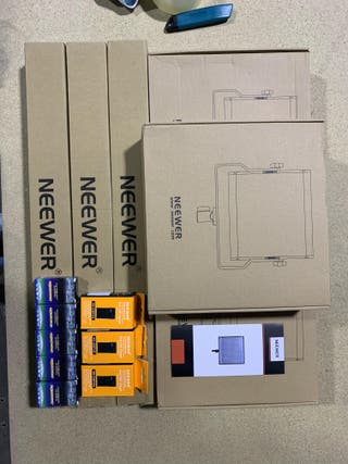 Kit de Iluminación Panel de LED, 3 Packs Regulable