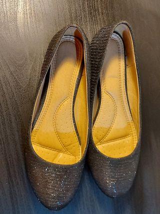 zapatos Negros escarchados