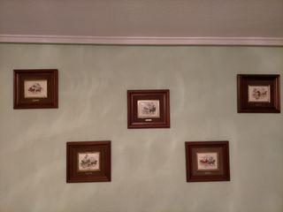 Cinco cuadros de carruajes del s.xvii