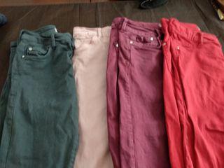 Pantalones chica pitillo 4x10€
