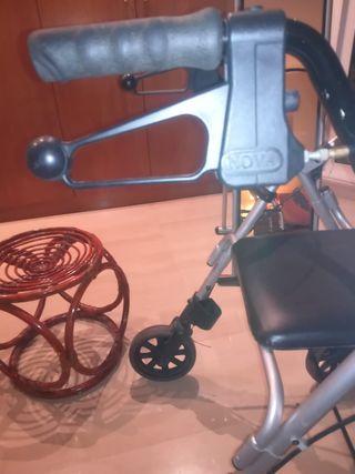tacataca andador de aluminio con asiento