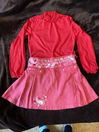 Conjunto falda y camiseta niña