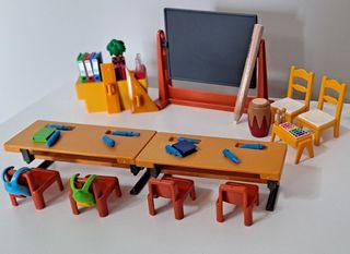 Playmobil aula colegio niños
