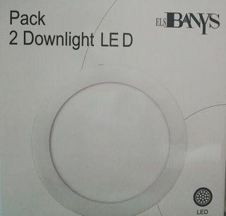 URGENTE VENDO Pack de 2 lámparas led encastrable