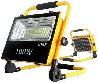 Foco Led de trabajo portátil 100W carga solar CH