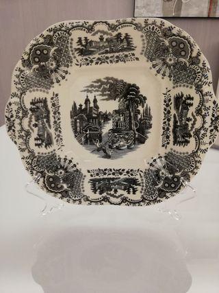 Plato porcelana, la cartuja de sevilla